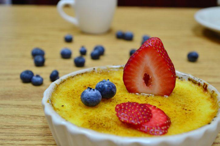 Crème Brûlée - Our rich custard dessert.